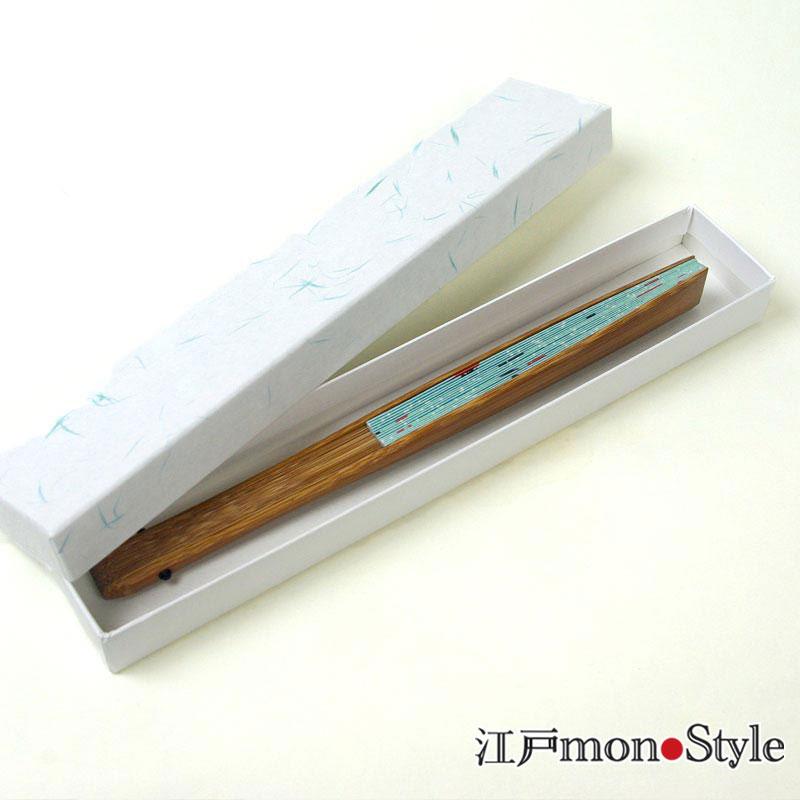 江戸柄扇子(金魚・21cm)【名入れ可】