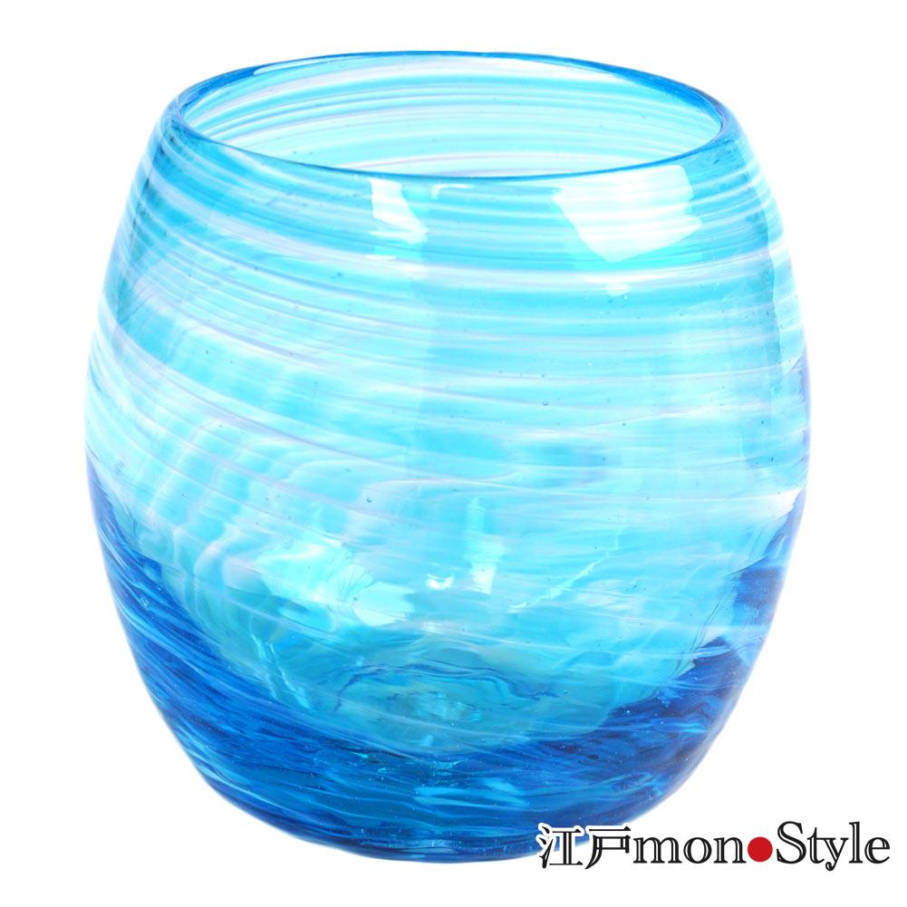 【琉球ガラス】【ペア】タルグラス(美ら海/ピンク&水色)【メッセージ入れ可】