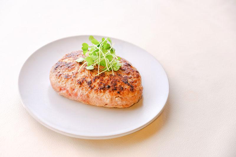 白金豚のハンバーグ