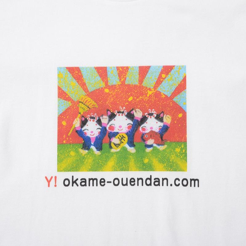 招き猫おかめTシャツ・C