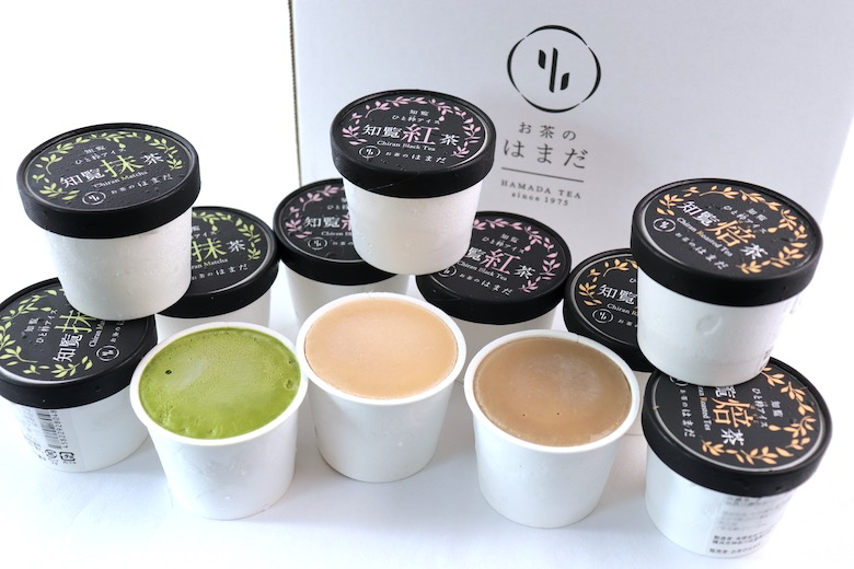 鹿児島知覧茶と和三盆の贅沢アイス3種 12個セット ※送料込み