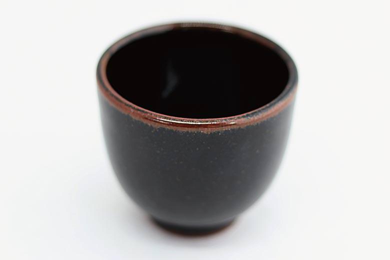 【薩摩焼】黒薩摩 ぐい呑み