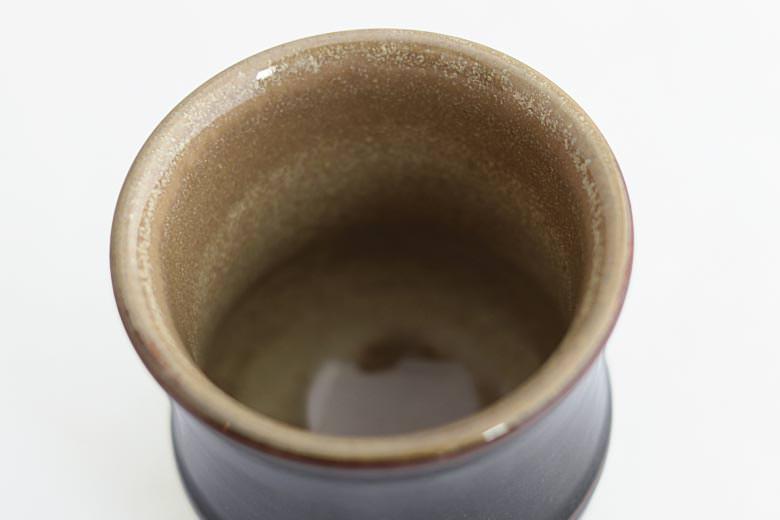 【薩摩焼】黒薩摩ワラ灰掛 湯呑み(大)