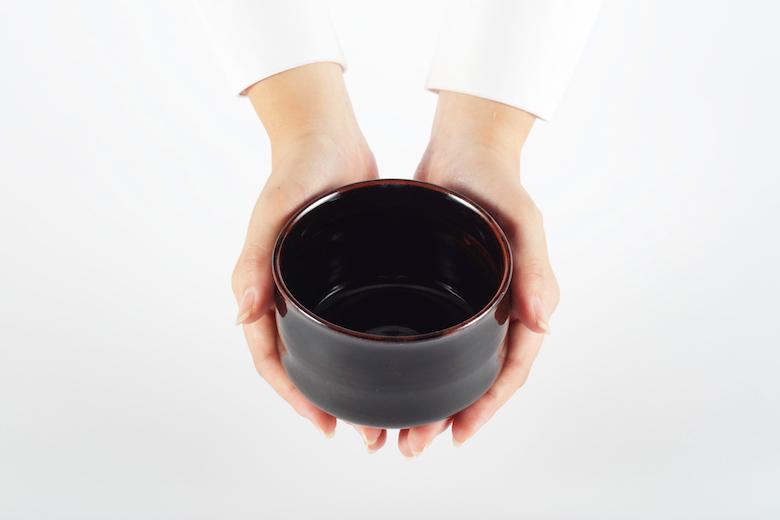 十五代沈壽官作 【薩摩焼】 抹茶碗(筒型)