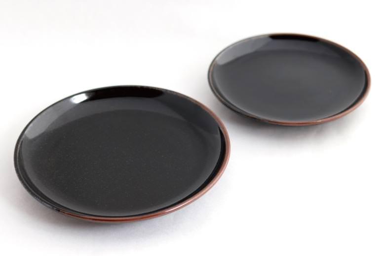 【薩摩焼】黒薩摩 平皿(大)24.5cm