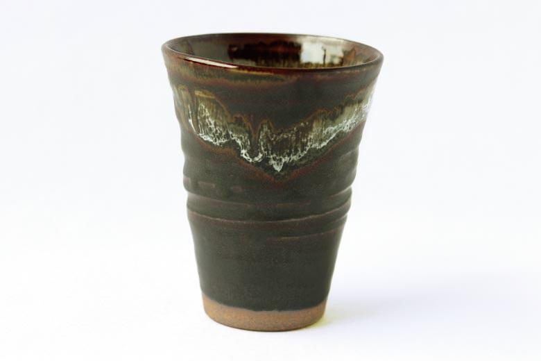 【薩摩焼】黒薩摩 焼酎カップ(黒)