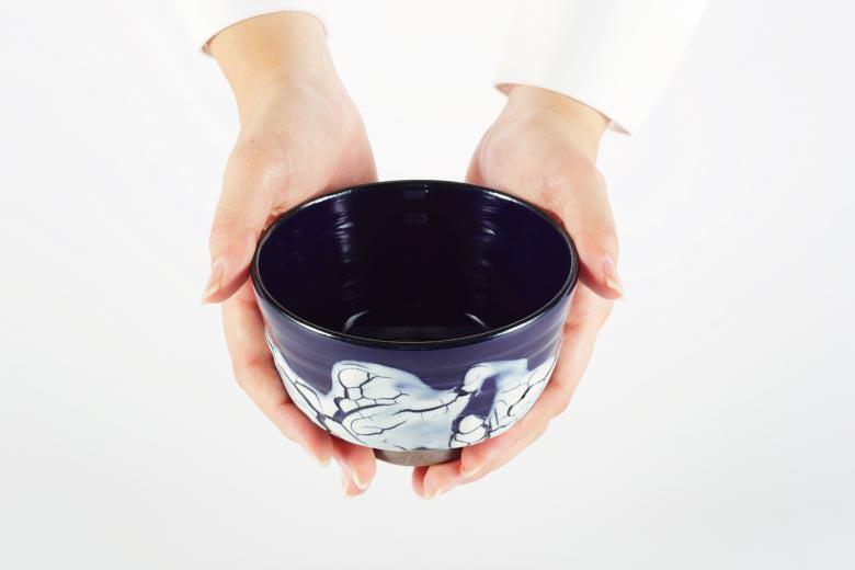 【薩摩焼】抹茶碗(氷裂文) ※送料無料