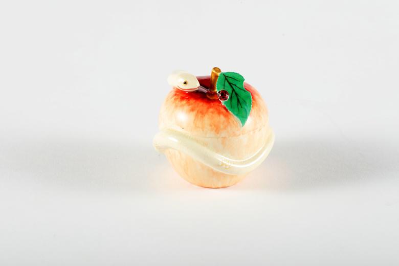白薩摩 巳(へび)の香合 十五代沈壽官作 ※送料無料