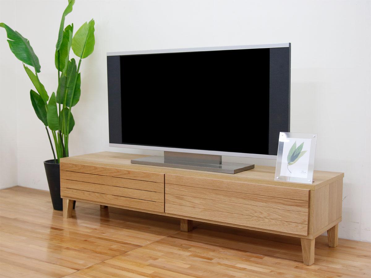 幅160テレビボード「フェント」ホワイトオーク