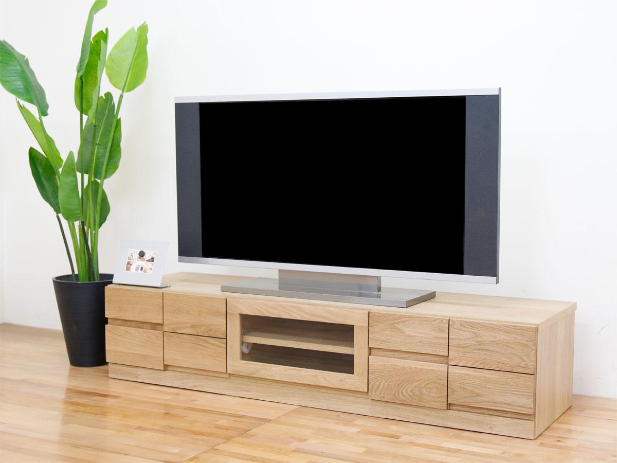 幅150テレビボード「ブロック」ホワイトオーク