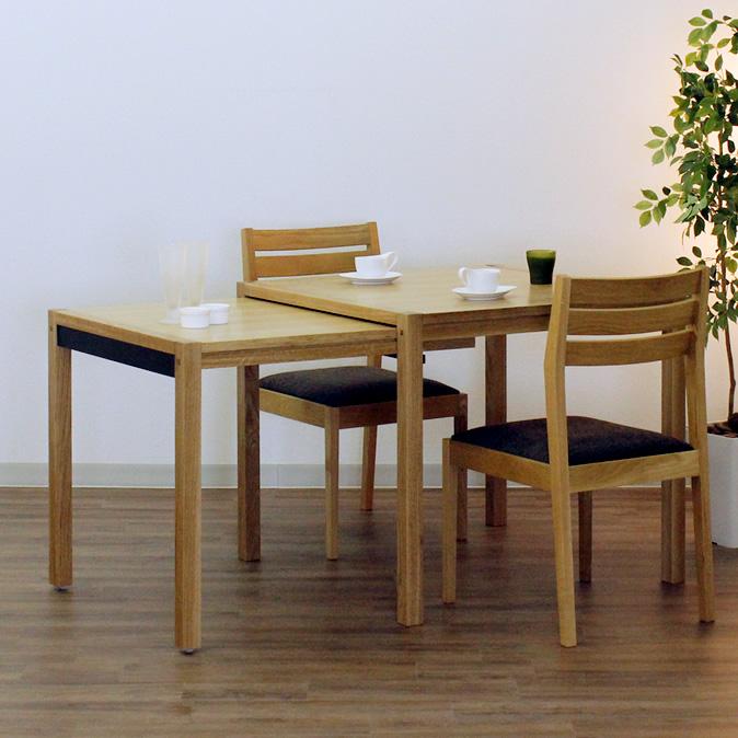 ダイニングテーブル Schroll850-ho 85-142x85x73cm 伸長式 WAプラス
