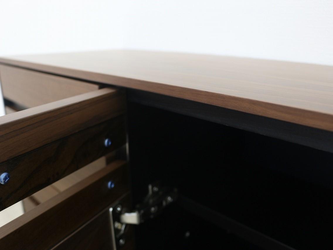 120cm ヨーロピアングレー色 引出収納付き サイドボード #703