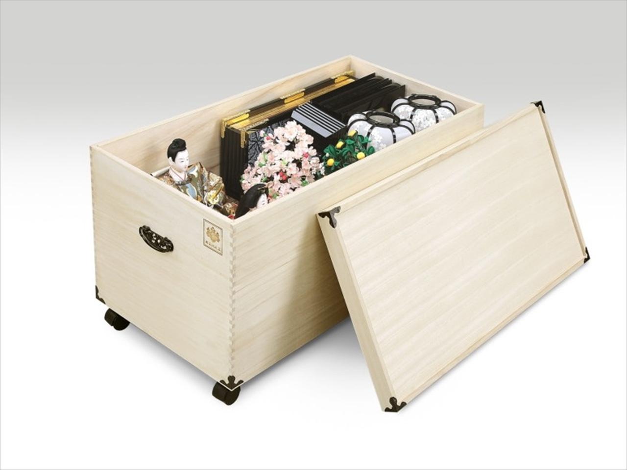 肥前桐民芸 総桐ひな人形収納ケース 深型1段 TS-1BL