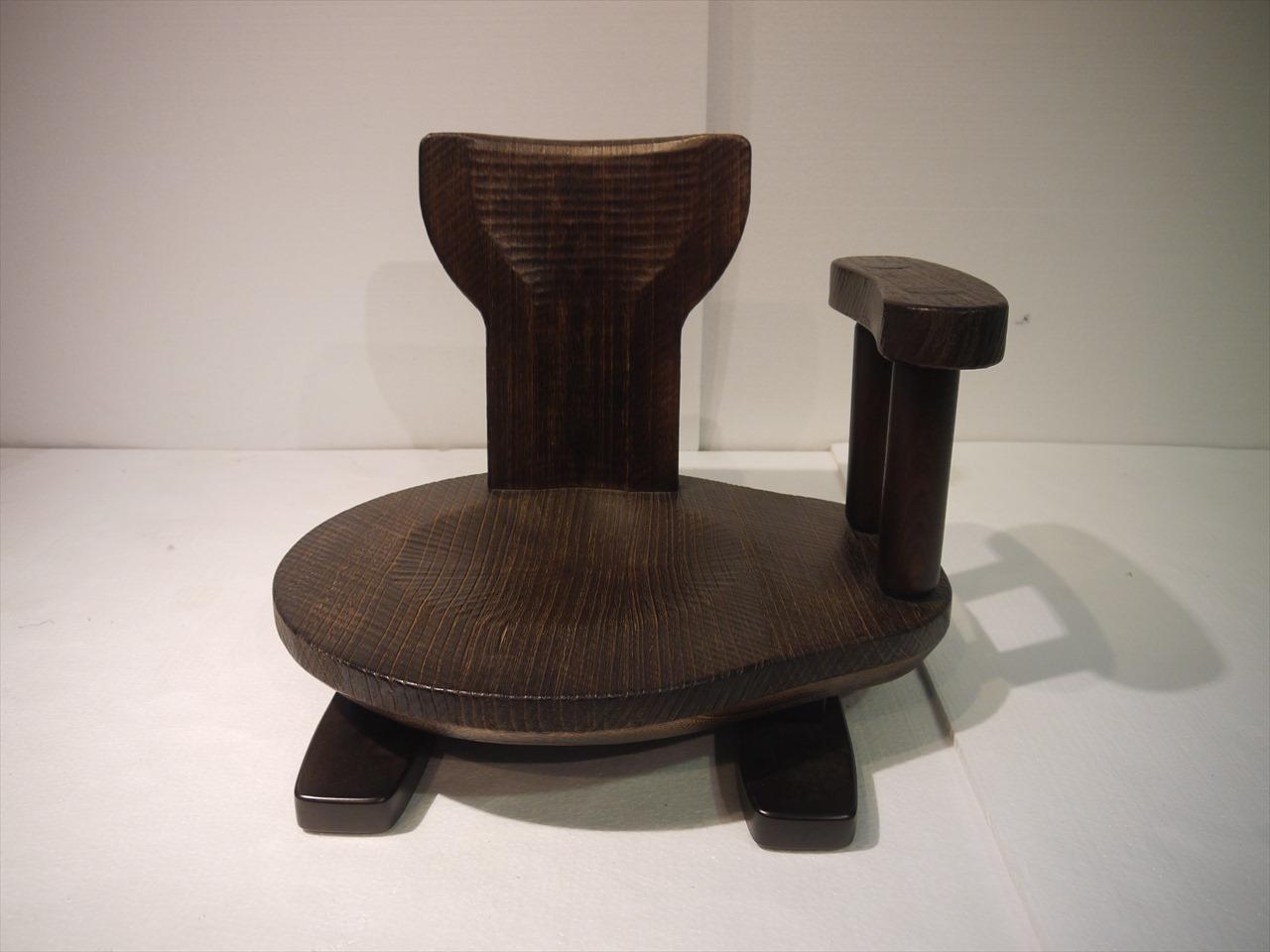 焼桐豆テーブル・焼桐座椅子の2点セット