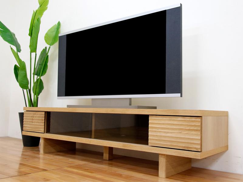 幅160テレビボード「リード」ホワイトオーク