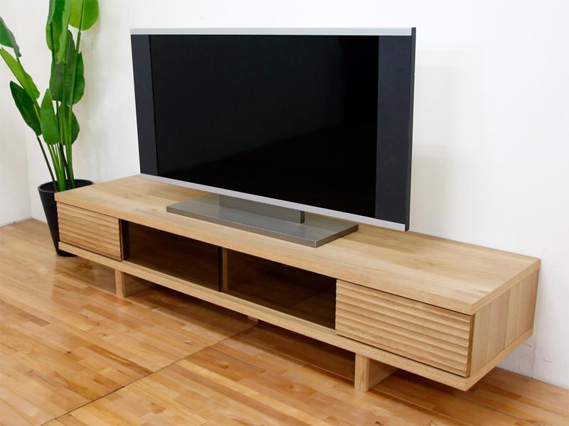 幅180テレビボード「リード」ホワイトオーク