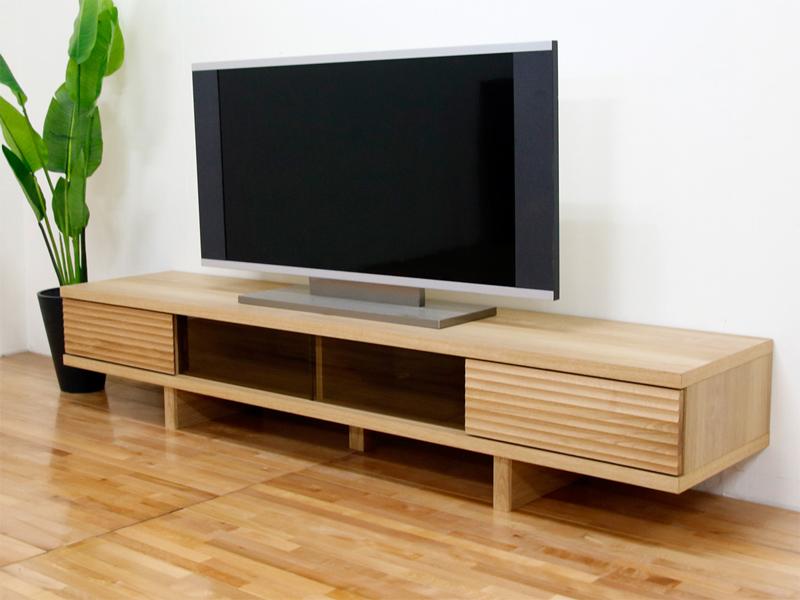 幅200テレビボード「リード」ホワイトオーク