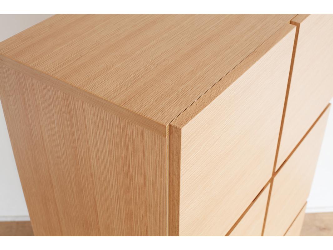 キャビネット ペルル 40-3 完成品 ウォールナット オーク ブラックチェリー ハードメープル 鏡面 ホワイト