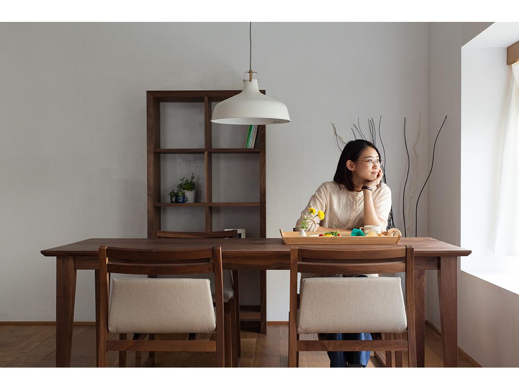ダイニングテーブル ウォールナット オーク 無垢材 ピオーネ 160