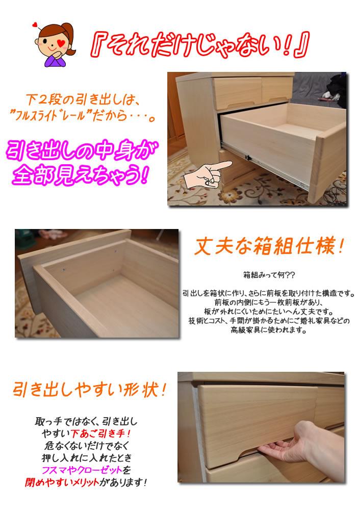押入収納(奥行55cm)キャスター付き クローゼット収納 シュール(3サイズ対応)