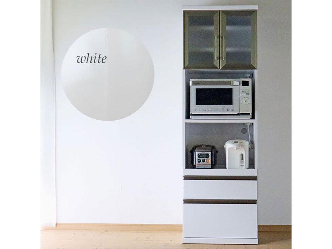 ダイニングボード 食器棚 ロンソン 幅60 ホワイト キッチン