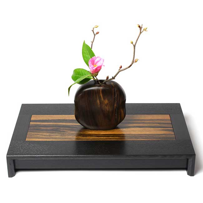 【黒柿】平卓(花台)