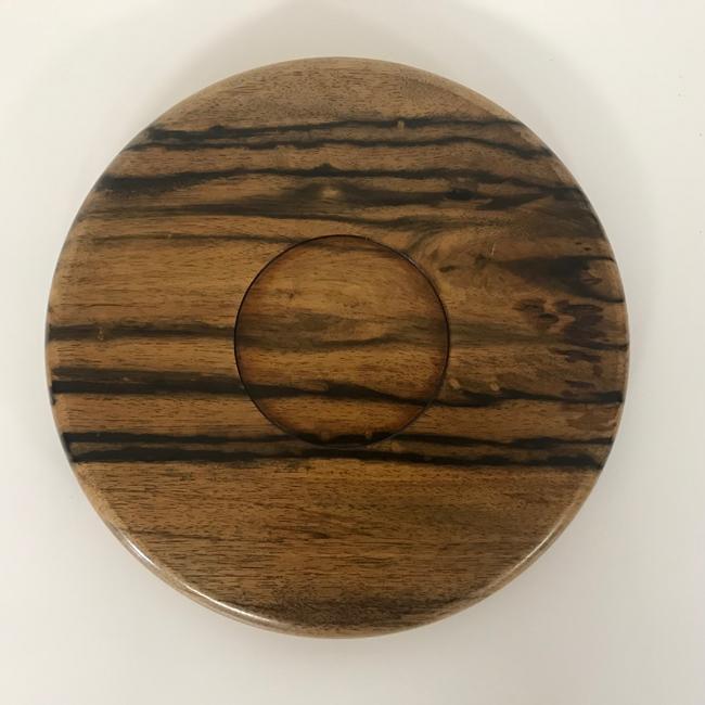 【黒柿】丸盆(φ305mm)