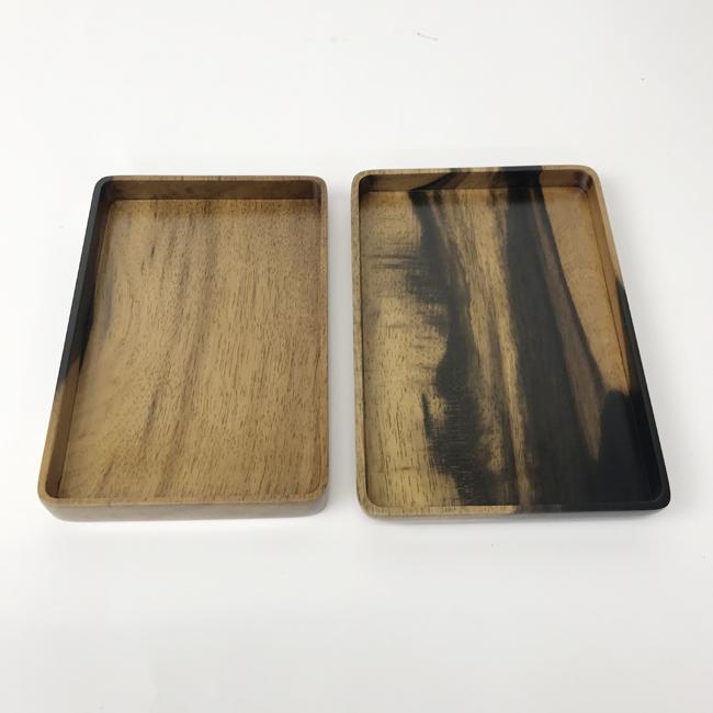 【黒柿】お便り箱 拭漆