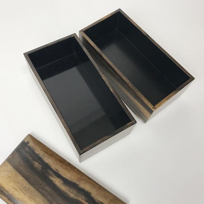 【黒柿】二段重箱