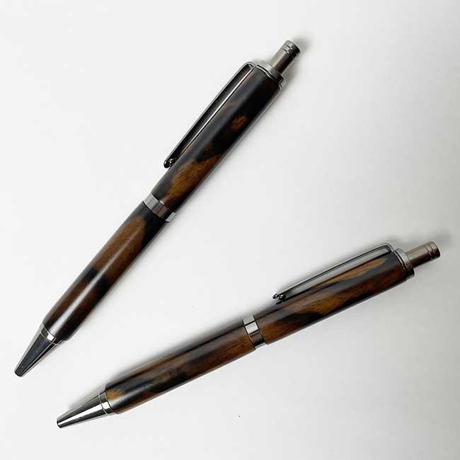 【黒柿】 ボールペン 【スリムライン】