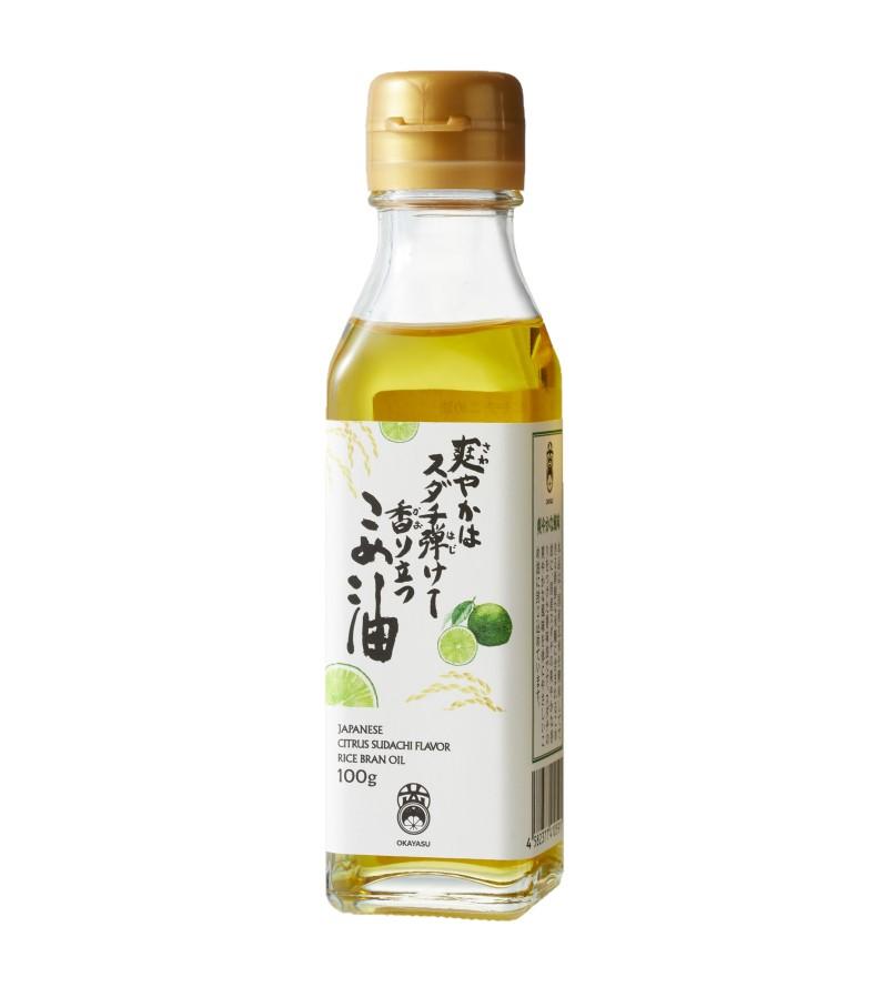 【香味油】[スダチこめ油] 爽やかは スダチ弾けて 香り立つ こめ油 100g