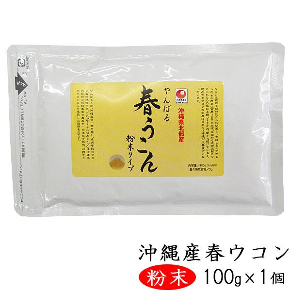 やんばる春ウコン 粉末タイプ 100g 沖縄県北部産春ウコン使用 ウコン堂 送料込み