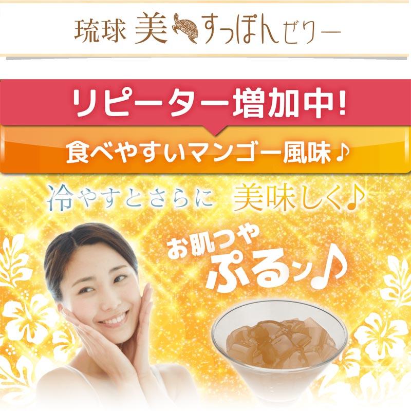 琉球美すっぽんゼリー マンゴー風味 10g×10包入り サプリ生活