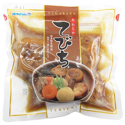 やわらかてびち 豚足煮付け 500g×3袋セット 国産豚足使用  オキハム