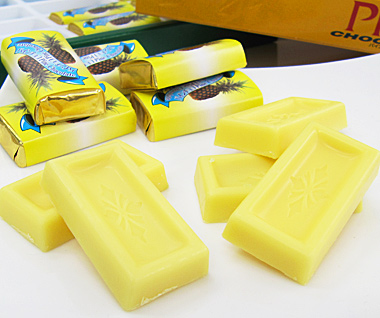 パインチョコレート 8個入り×10箱 パイナップル風味のホワイトチョコ