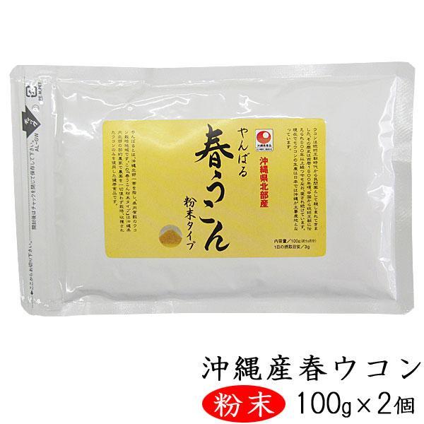 やんばる春ウコン 粉末タイプ 100g×2個 沖縄県北部産春ウコン使用 ウコン堂 送料込み