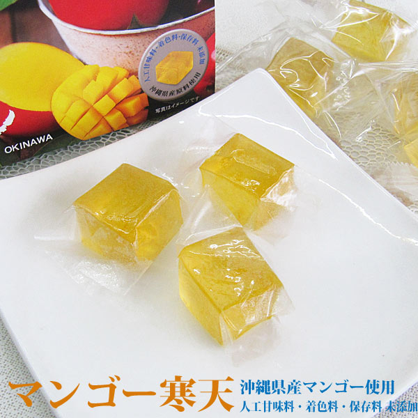 マンゴー寒天 8個入り×9袋 沖縄産マンゴー使用 沖縄寒天本舗 個包装 一口サイズ 送料無料