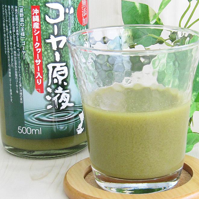 沖縄産 ゴーヤー原液 500ml×24本 沖縄産シークヮーサー入り 無添加 ゴーヤジュース 送料無料 ※キャップ部分が画像と異なる場合がございます。原料等に変更はございません。