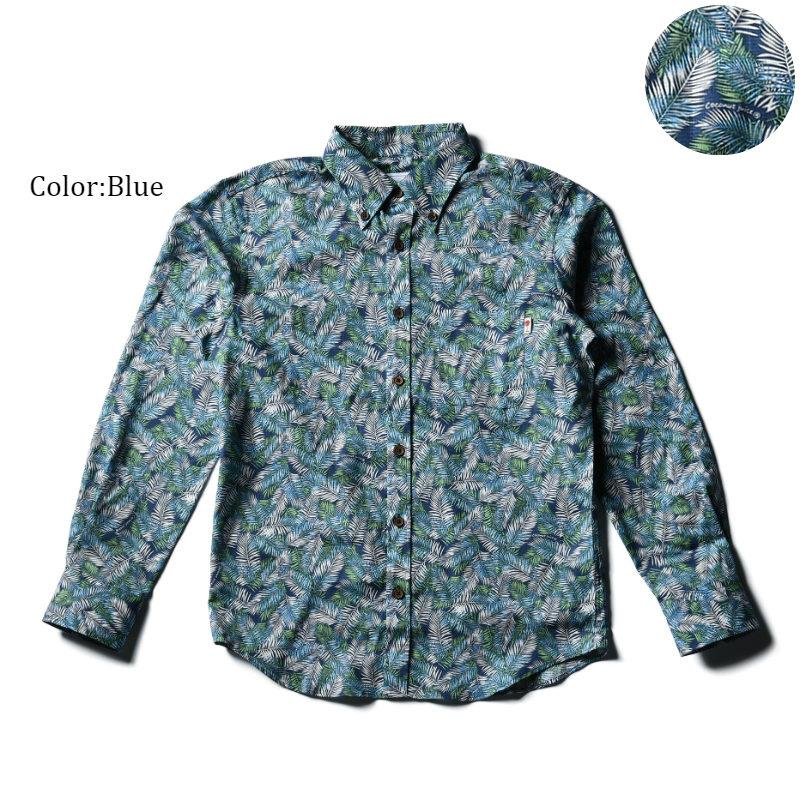 アロハシャツ かりゆしウェア メンズ(男性用)「Leaf Jungle」全3色 人気アロハがリニューアル! 長袖 大きいサイズありリゾートウエディング 沖縄結婚式にアロハシャツ【メール便利用で送料無料】