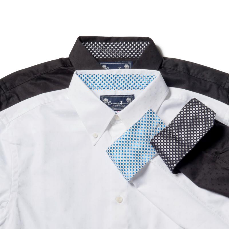 アロハシャツ かりゆしウェア メンズ(男性用)「Hana-block」全2色 人気アロハがリニューアル! 長袖 大きいサイズあり 沖縄結婚式にアロハシャツ 【メール便利用で送料無料】