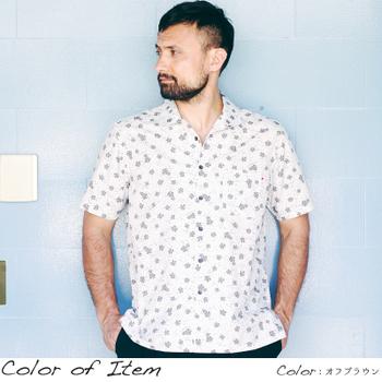 アロハシャツ かりゆしウェア メンズ(男性用)「Chalky Dots」全4色 人気アロハがリニューアル! 半袖  大きいサイズあり 沖縄結婚式にアロハシャツ 【メール便利用で送料無料】