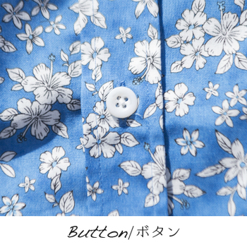 アロハシャツ かりゆしウェア メンズ(男性用)「Flower Storm」全4色 人気アロハがリニューアル! 半袖  大きいサイズあり 沖縄結婚式にアロハシャツ 【メール便利用で送料無料】