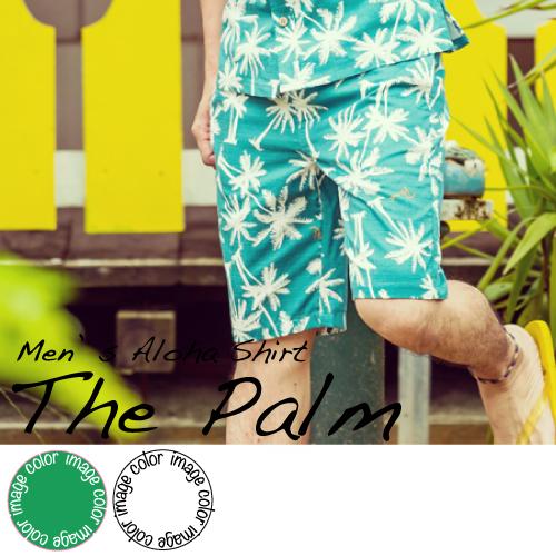 """メール便利用で送料無料!ショートパンツ アロハ柄 ハーフパンツ抗菌防臭加工   短パン メンズ(男性用)""""The Palm""""  XLサイズまで 大きいサイズあり"""