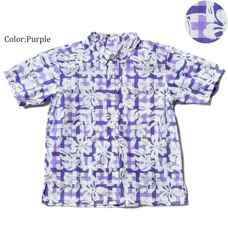 アロハシャツ かりゆしウェア キッズ(子供用)「Madoras Hibiscus」全3色 人気アロハのキッズサイズ! 半袖 大人サイズありリゾートウエディング 沖縄結婚式にアロハシャツ【メール便利用で送料無料】