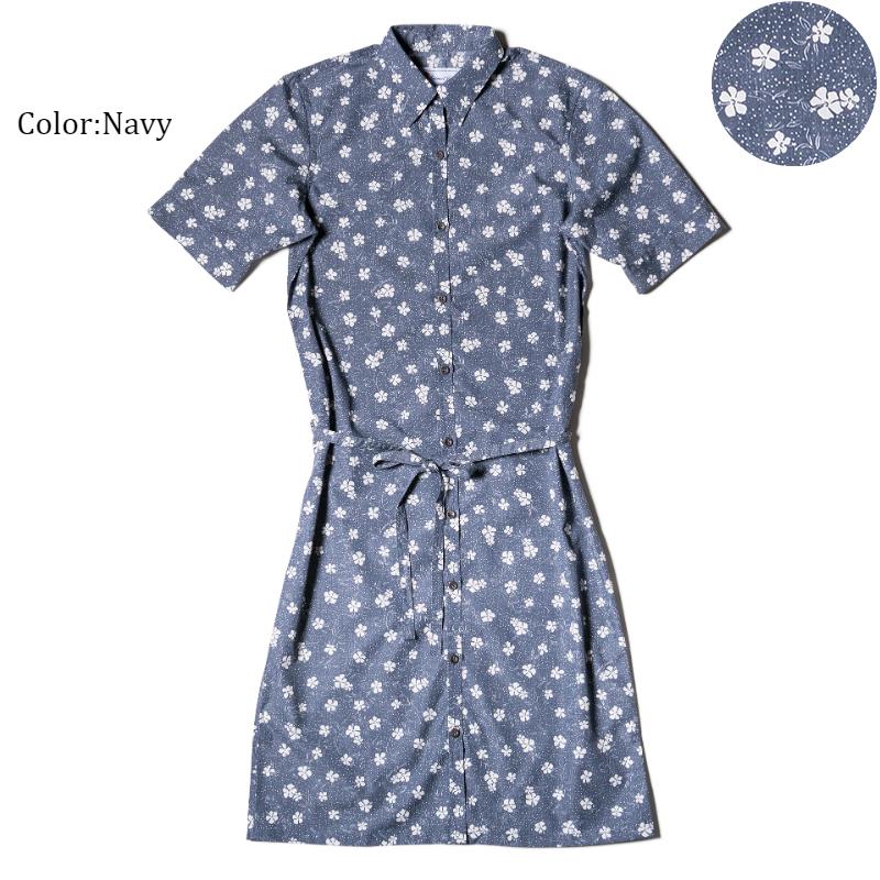 アロハシャツ かりゆしウェア レディース(女性用)「Chalky Dots」全4色 人気アロハがリニューアル! 半袖  大きいサイズあり 沖縄結婚式にアロハシャツ 【メール便利用で送料無料】