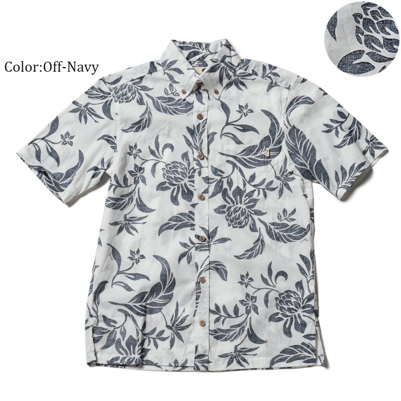 メール便利用で送料無料!アロハシャツ 毎年売り切れの人気柄!今年もリニューアルして復活!『Overlap hibiscus』メンズ(男性用)半袖 3Lまで 大きいサイズあり