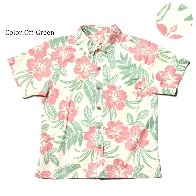 アロハシャツ キッズ(子供用)『Classical Hibiscus』全3色 人気アロハのキッズサイズ! 半袖 大人サイズあり 沖縄結婚式にアロハシャツ【メール便利用で送料無料】