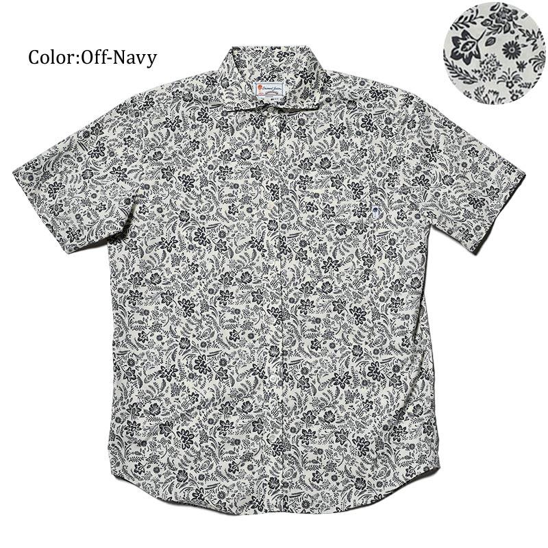 かりゆしウェア アロハシャツ メンズ(男性用)「Oriental Arabesque」全2色 半袖 沖縄結婚式にアロハシャツ 送料無