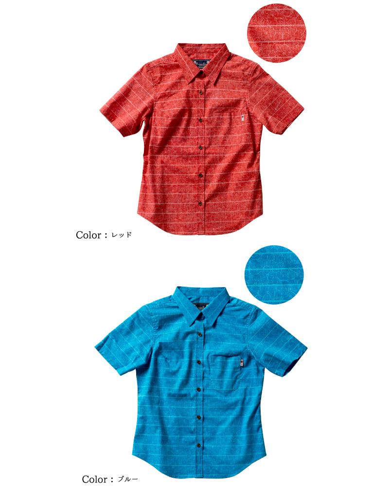 """メール便送料無料!アロハシャツ かりゆしウェア """"Hibiscus Que (ハイビスカスキュー)"""" レディース(女性用) 半袖シャツ 全4色 大きいサイズあり  リゾートウエディング 沖縄結婚式にアロハシャツ"""