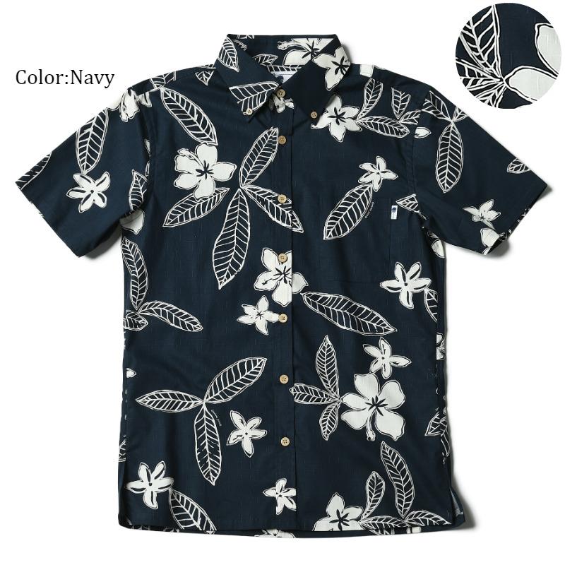 アロハシャツ かりゆしウェア メンズ(男性用)「Pua Melia」全3色 人気アロハがリニューアル! 半袖  大きいサイズありリゾートウエディング 沖縄結婚式にアロハシャツ【メール便利用で送料無料】
